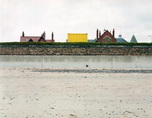 Leven Links and retaining wall